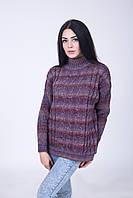 Свитер женский лиловый меланж - 3060