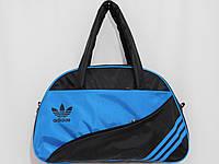 Сумка текстильная спорт ADIDAS черный с голубым, фото 1