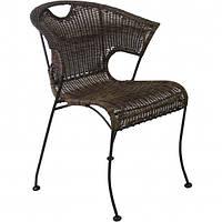 Стул Бали, коричневый, стул из искусственного ротанга, мебель для веранды