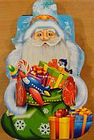 Новогодняя упаковка из картона Дед мороз на санях 600г