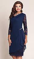 Платье для женщин VITTORIA QUEEN-2043/2 белорусский трикотаж цвета темно-синий