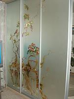 Витражная роспись на межкомнатную перегородку