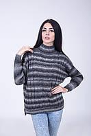 Свитер женский серый меланж - 3060