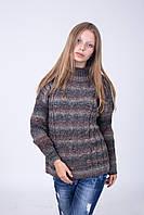 Свитер женский коричневый меланж - 3060