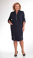 Платье Pretty-473 белорусский трикотаж, темно-синий, 50