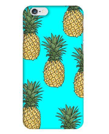 Силиконовый чехол накладка для Iphone 6 / 6s с картинкой Ананасы
