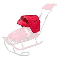 Детский капюшон к санкам Adbor Piccolino красный 13710