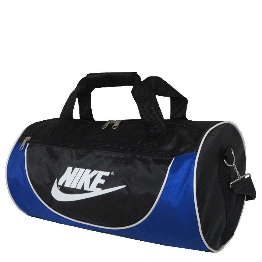 217a33f7e638 Спортивная сумка в форме цилиндра реплика Nike105 среднего размера  черно-синяя