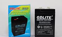 Аккумулятор BATTERY GD 645 6V 4A, универсальный аккумулятор gdlite