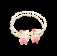 Браслет двойной детский Hello Kitty-10 шт.