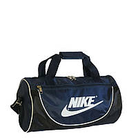 Спортивная сумка в форме цилиндра Nike105 маленькая сине-черная
