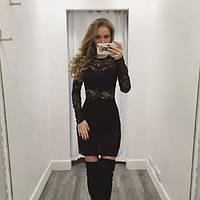 """Красивое черное  гипюровое платье """" Флейта """". Арт-8856/74"""