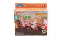 Игровой набор кухня Животные флоксовые 012-03b happy family в коробке 12*13*4см