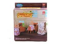 Животные флоксовые 012-05b happy family, письменный стол, в короб.12*14*5см