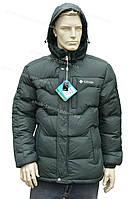 Зимняя мужская куртка с капюшоном очень теплая зеленая
