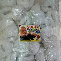 Резинки для волос белые 30 шт.