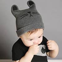 Детская шапка Котик