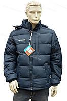мужская куртка  columbia зима  стиль 2016/2017 холлофайбер  синяя