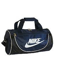 Спортивная сумка в форме цилиндра Nike105 среднего размера сине-чёрная