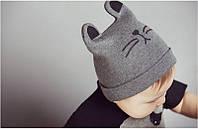 Детская шапка Котик с ушками