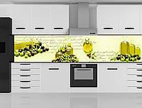Стеклянный фартук для кухни - скинали Оливки, фото 1