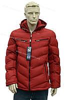 Зимняя мужская куртка с капюшоном  зима 2016/2017 очень теплая оранжевая