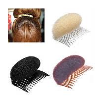Валик для придания объема волосам на гребешке (9см)