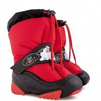 Детские сапожки-дутики «SNOWMEN», красные, фото 1