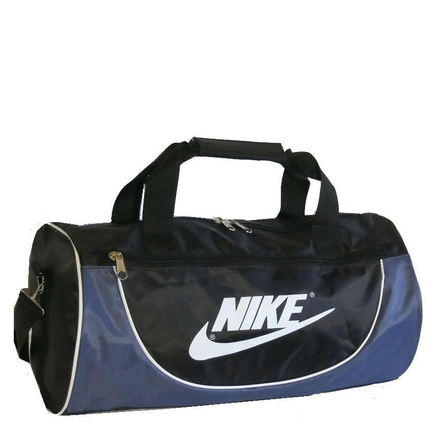 9c82877f0b8b Спортивная сумка в форме цилиндра реплика Nike105 среднего размера  чёрно-серая