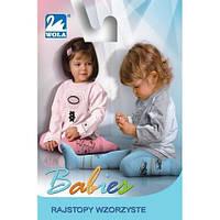 "Колготки детские х/б ""Wola-Babies"" color-mix, 67-74 см."