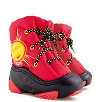 Детские сапожки-дутики «SUNNY» красные
