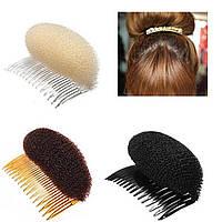 Валик для придания объема волосам на гребешке (12см)