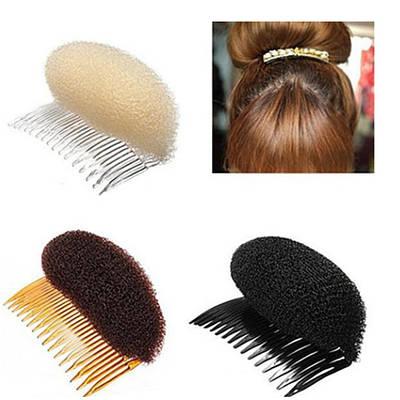 Валик для придания объема волосам на гребешке (12 см)