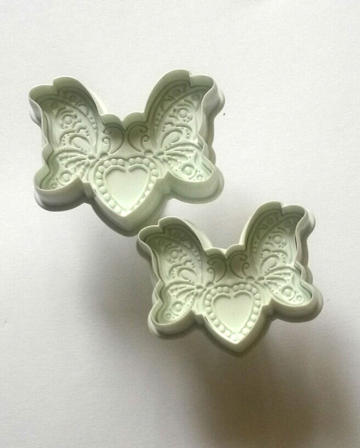 """Плунжер для мастики """"Бабочки и сердце ажурные"""" 2шт.(код 02288)"""