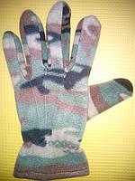Флисовые перчатки камуфляж., фото 1