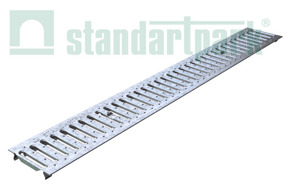 Решетка водоприемная Basic DN100 стальная штампованная (оцинкованная) 20101