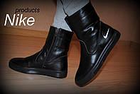 """Слипоны """"Nike- черные """""""
