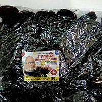 Резинки для волос черные, 80 шт., (30 мм)