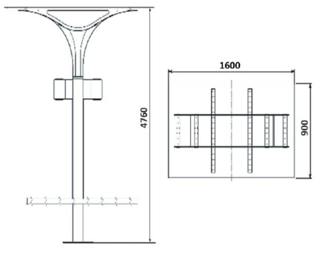 Парковые фонари Сити Лайт (Габаритные размеры)