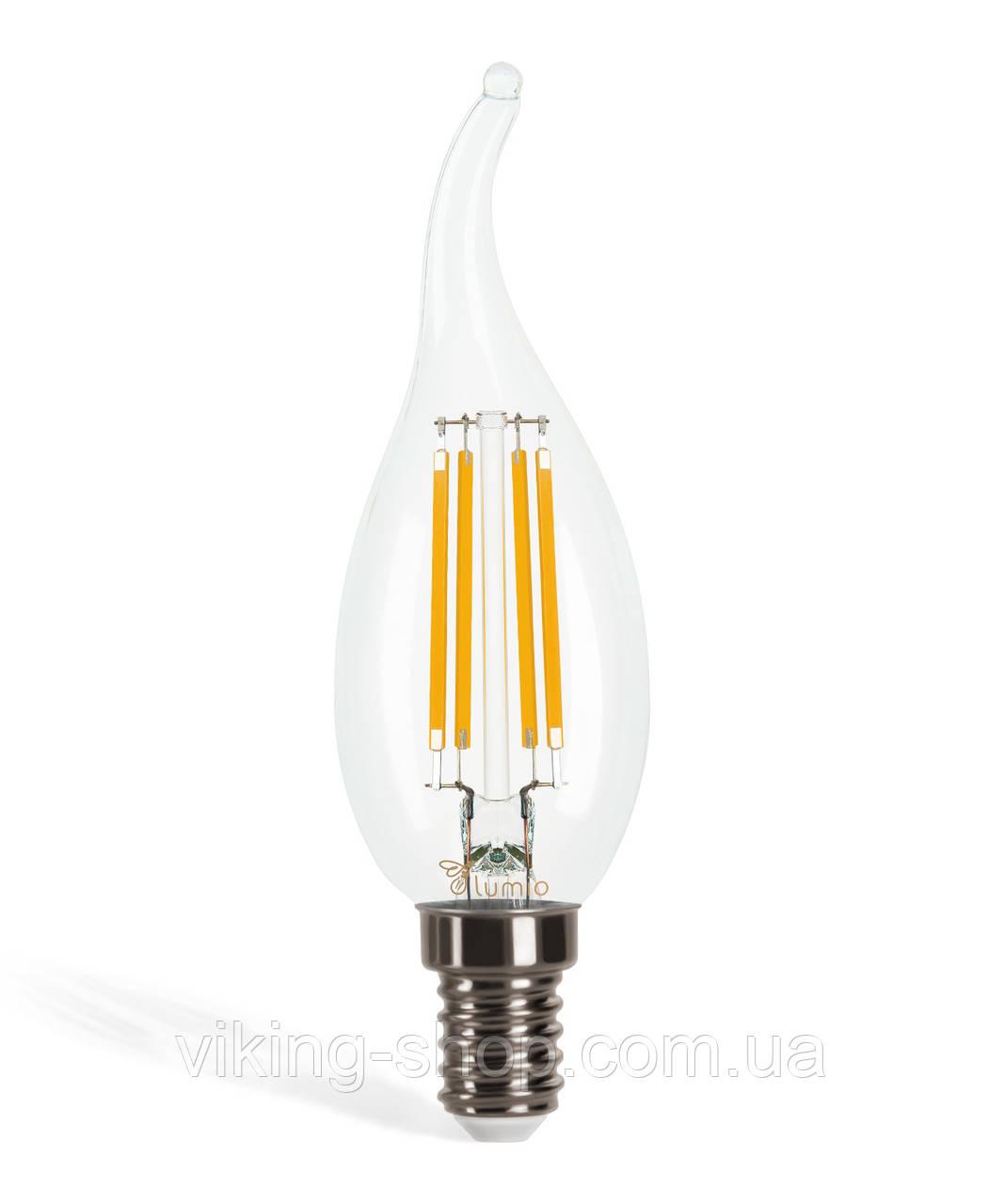 LED лампа LED филамент 4W, 470lm, Мягкий свет, E14, F35