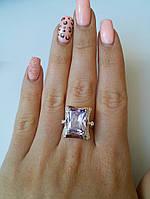 Кольцо серебряное с крупным фианитом