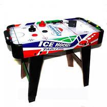 Настольная игра Аэрохоккей ZC 3005+2, от сети 220V, размер 85*42,5*60 см, фото 3