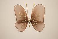 Бабочки декоративные среднего размера 13*13 см вкусный капучино