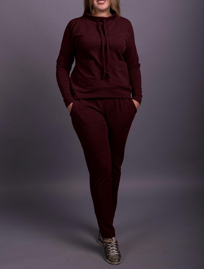 """Спортивный костюм женский """"Бордо"""" до 70 размера"""