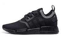Мужские кроссовки Adidas NMD Runner (адидас раннер) черные, мужские кроссовки для бега