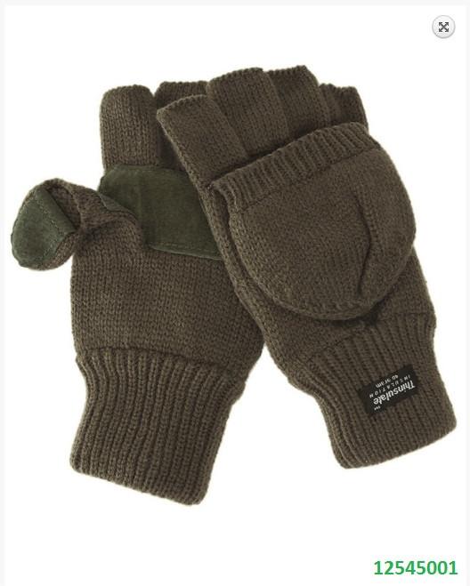 Перчатки -варежки Mil -Tec вязаные хаки 12545001
