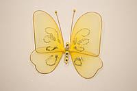 Бабочки декоративные среднего размера 13*13 см солнечный день
