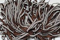 Т/О ромбик 6мм (50м) коричневый+белый