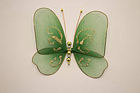 Бабочки декоративные среднего размера 13*13 см зеленый плен