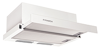 Pyramida TL-60 white (600 мм.) встраиваемая, кухонная, телескопическая вытяжка, белая эмаль, фото 1